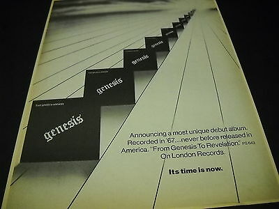 GENESIS 1974 Promo Poster Ad FROM GENESIS TO REVELATION mint condition