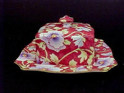 Lovely Royal Winton Covered Butter / Cheese Dish - JUNE FESTIVAL Pattern