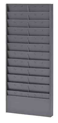 "BUDDY PRODUCTS 0801-1 Job Ticket Rack, 11 or 22 Tickets, 30"" H"