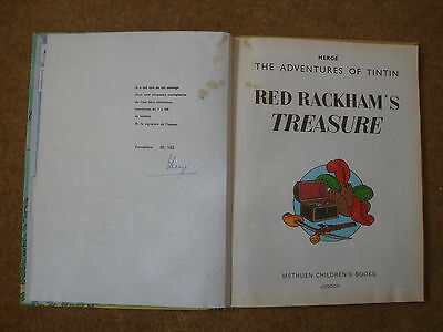 Genuine Signed/Autographed Limited Edition of Red Rackham's Treasure