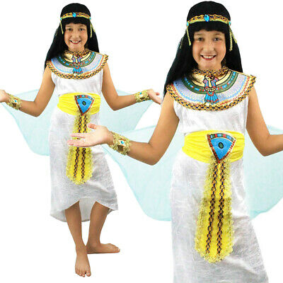 Egyptian Queen Girls Nile Cleopatra Fancy Dress Small Medium Large Costume  sc 1 st  PicClick UK & GIRLS EGYPTIAN QUEEN Cleopatra Goddess Kids Fancy Dress Costume Book ...