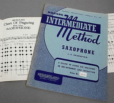 Rubank Intermediate Method Saxophone J.e. Skornicka Instruction Book