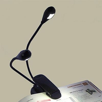 Flexible Clip Ultra Bright LED Book Reading Light + FREE AAA Batteries