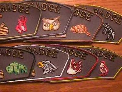 FULL SET OF 8 CRITTER CSP ~ Wood Badge Patch Course