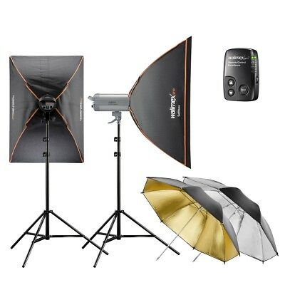 walimex pro VC Excellence Studioset Classic 10.5 1000/500Ws inkl Softbox/Schirme