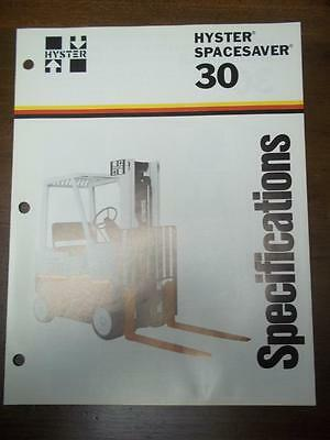 Hyster Lift Truck Brochure~S30E Spacesaver~Specifications~Catalog Insert 1976