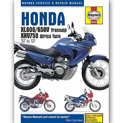 Haynes Manuel Reparation 3919 pour Honda XRV750 Africa Twin 2003