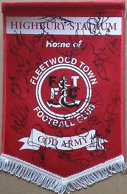17 Signed Fleetwood Town 2012/13 Squad Pennant