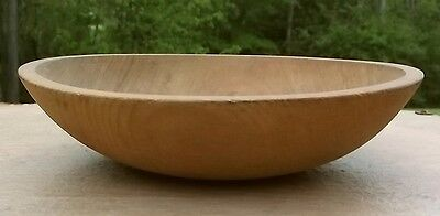 Vintage Munising Wood Out of Round WOODEN DOUGH BOWL Signed EC No Reserve