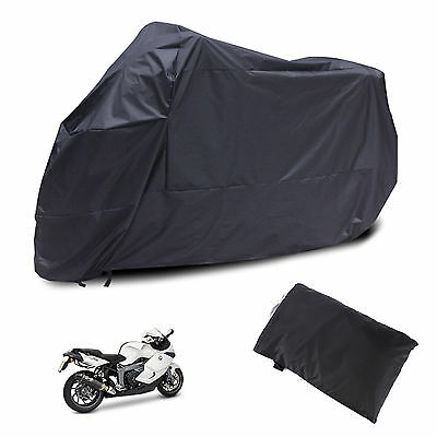 Motorcycle Waterproof 2XL Outdoor Vented MotorBike Scooter Dust Rain Cover Large