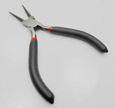 Free Stainless Steel Needle Nose Pliers Jewelry Making Hand Tool Black 12.5cm