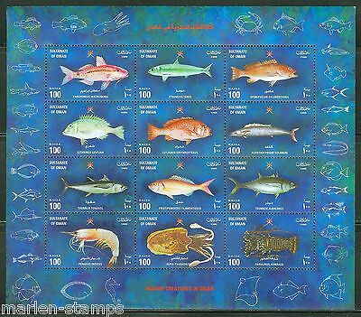 Oman Marinelife Scott#412  Sheet  Mint Nh As Issued