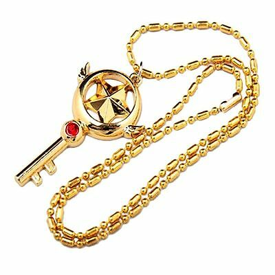 2x Japan Anime Card Captor Sakura Figure Cosplay Magic Pendant Chain Necklace