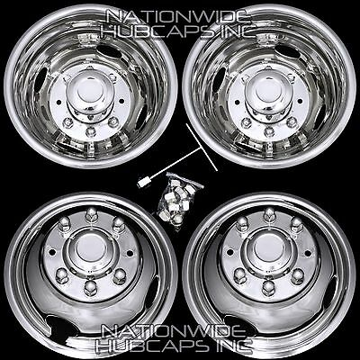 """99-02 FORD F350 16"""" Dually Stainless Steel Wheel Simulators Rim Liner Covers F9"""