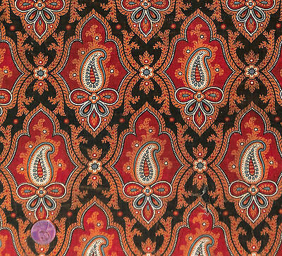 Antique 1850 Framed Paisley Madder Fabric