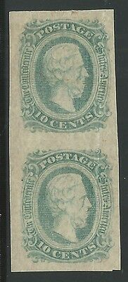 CSA Scott #11c (AD) Mint OG LH Pair of Confederate Stamps