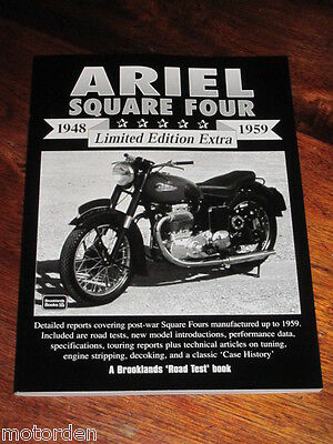 1948-1959 ARIEL Square Four motor cycle road tests, tech articles NEW, FREE POST