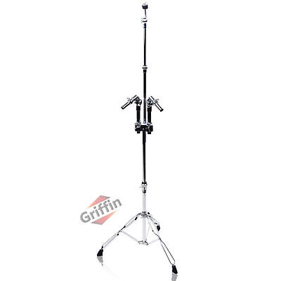 Double Tom Drum Stand - Griffin Cymbal Boom Mount Arm Duel Percussion Hardware