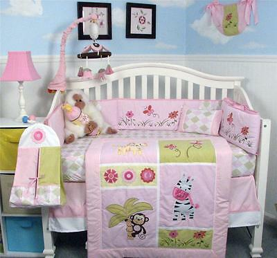 jelly bean jungle baby crib nursery bedding set 13 pcs included