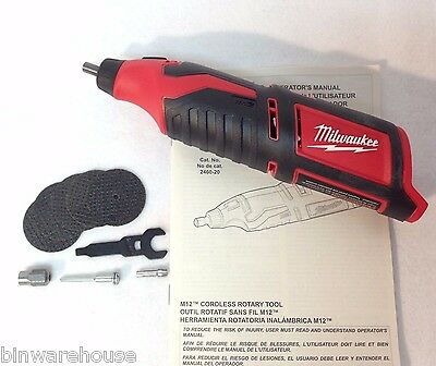 Milwaukee 2460-20 New 12 Volt M12 Cordless Rotary Tool - Bare Tool