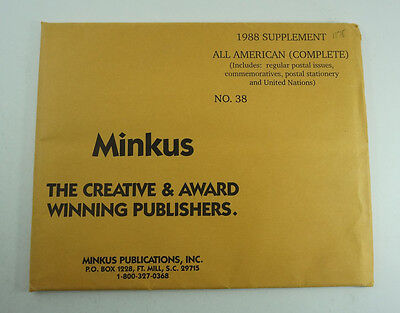 Minkus Stamp Album Pages All American (Complete) 1988 Supplement No. 38 5792