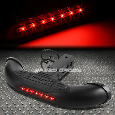 """Bully 1.25""""/2"""" Receiver Trailer Tow Tailgate/hitch Step+Led Brake Tail Light Bar"""