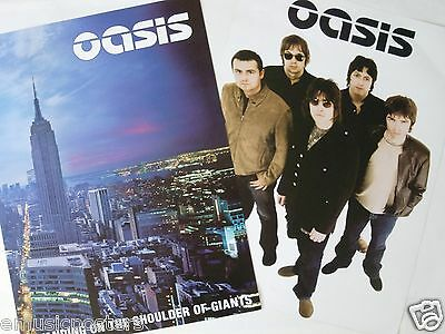 "OASIS ""STANDING ON SHOULDER OF GIANTS"" 2-SIDED U.S. PROMO POSTER - Britpop Music"
