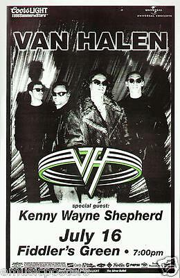 VAN HALEN / KENNY WAYNE SHEPHERD 1998 DENVER CONCERT TOUR POSTER - Group & Logo