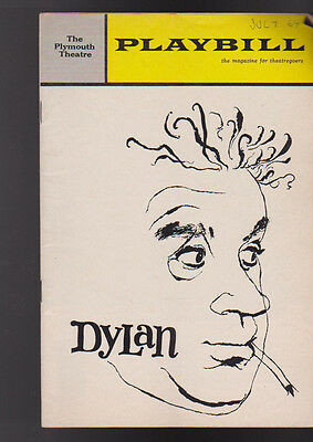 Dylan Playbill 1964 Alec Guinness Dylan Thomas