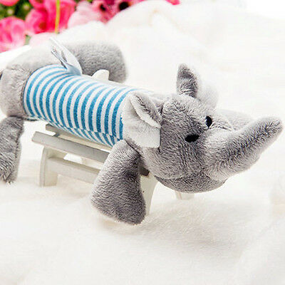 Pet Puppy Chew Squeaker Squeaky Plush Sound Gray Elephant For Dog Sound Toys