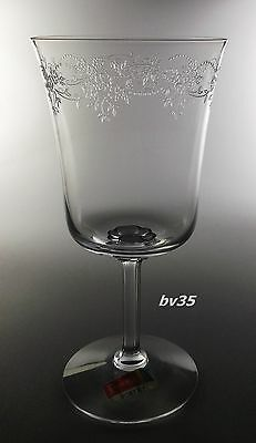 """FOSTORIA POETRY WATER GOBLETS  6 5/8"""" - clear, etched, - NEW! PERFECT!"""