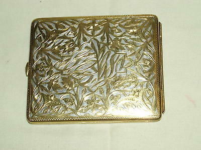 Vintage scarce exquisite gold and silver plated cigarette case Middle east!