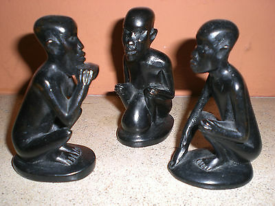 Trois Statuettes Africaines Anciennes