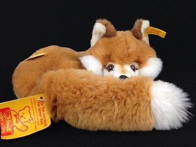 Vintage Steiff Xorry Fox 1540/2 Made In Germany Plush Toy With Tags Ids