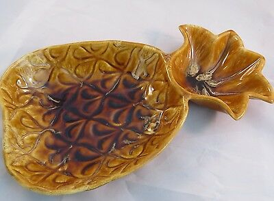 VTG California Art Pottery Tray Plate Bowl PINEAPPLE WADE OF CALIF USA ( # 25)
