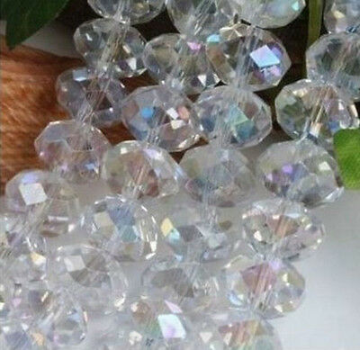 Hot New Free Shipping Crystal Loose Beads 98pcs 6mm Jewelry Making AB white HOT