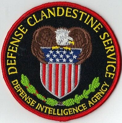 **NEW PATCH! ** DEFENSE CLANDESTINE SERVICE - DEFENSE INTELLIGENCE AGENCY D.I.A.
