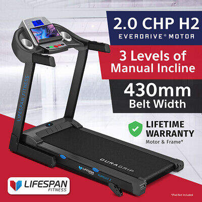 Lifespan Pursuit #New Electric Treadmill Quiet EverDrive® Motor w/iPad Stand
