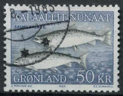 Greenland 1983 SG#138 Atlantic Salmon Used #A86823