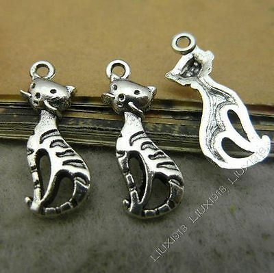 20x Charms Axe shaped Pendant Beads Findings Tibetan Silver Wholesale S555T
