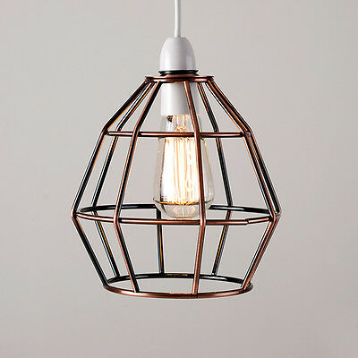 Copper Vintage Industrial Style Cage Ceiling Pendant Light Lamp Shade Lights NEW