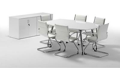 1800 High Gloss Black or White Meeting / Boardroom / Conference Table