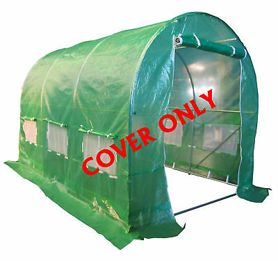 FoxHunter 3 Section Polytunnel Greenhouse Pollytunnel Poly Tunnel Cover 3m x 2m