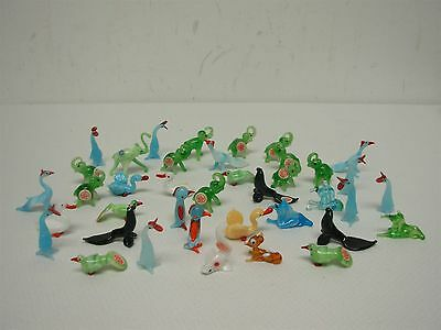 39 Vintage Red Ball Made In Japan Blown Glass Miniature Animals ~ Great Lot!