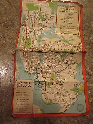 Lot of maps and souvenir brochure about New York City  Street Subway - LUD