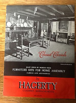 1967 HAGERTY FURNITURE KIT CATALOG, colonial primitive wood designs