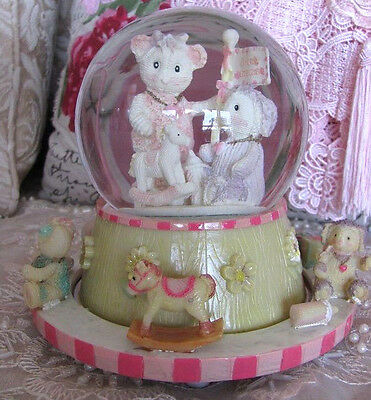Girls Boys Child Baby Teddy Bear Toys Musical Carousel Snowglobe Water Ball