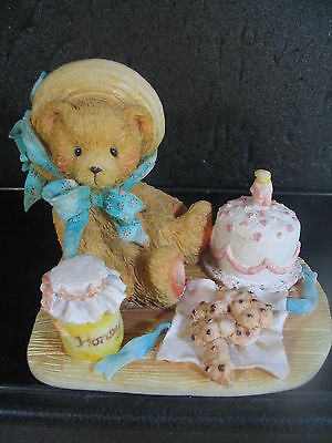 Cherished Teddies ANNA Bear With Honey Picnic Cake Mint In Box