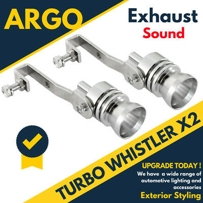 TURBO EXHAUST WHISTLER WHISTLE SOUND CAR DUMP VALVE SIMULATOR TAILPIPE x 2
