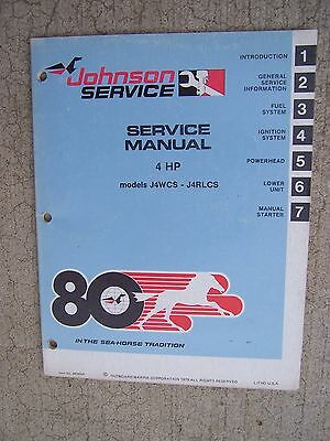 service manual johnson outboard motor